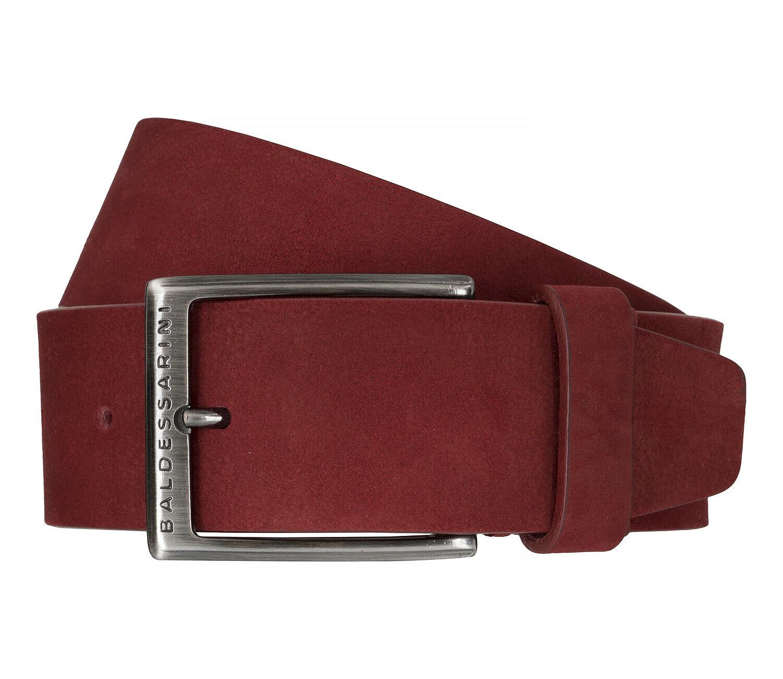 BALDESSARINI Gürtel Ledergürtel Herrengürtel Veloursleder Ferrari Rot 6485