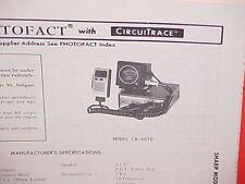 1979 SHARP CB RADIO SERVICE SHOP MANUAL MODEL CB-4670