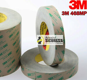 3M™ 468MP nastro in schiuma biadesivo Trasparente da 55MT uso industriale nuovo