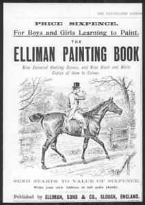 1898-Antique-Print-Advertisements-ELLIMAN-Painting-Book-Hunting-Horse-237