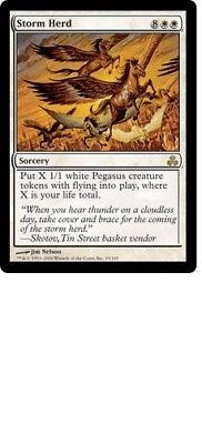 White C11 Commander 2011 Mtg Magic Rare 4x x4 4 PreCon PLAYED Storm Herd
