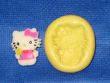 Hello Kitty Flower Push Mold  Food Safe Silicone  #746 Cake Decoration Cupcake