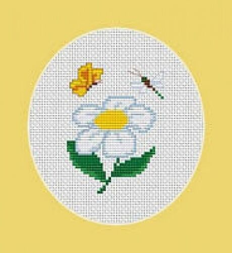 Butterfly and Dragonfly Cross Stitch Kit Daisy Beginner 6.5cm x 8.5cm Luca S