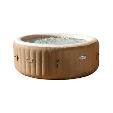 Intex PureSpa 4 Person Inflatable Bubble Jet Spa Portable Hot Tub, Tan |  28403E