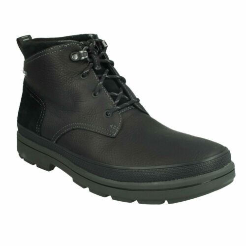 RUSHWAY MID GTX MENS CLARKS LACE UP LEATHER GORE TEX CASUAL WINTER ANKLE BOOTS