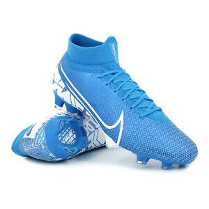Dettagli su Scarpe da calcio uomo Nike Superfly 7 Pro FG AT5382 414 Azzurro Bianco