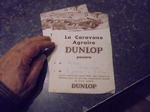 Feuillet-Publicitaire-Caravane-Agraire-Pneu-Dunlop-Illustre-Delarue-Nouvelliere
