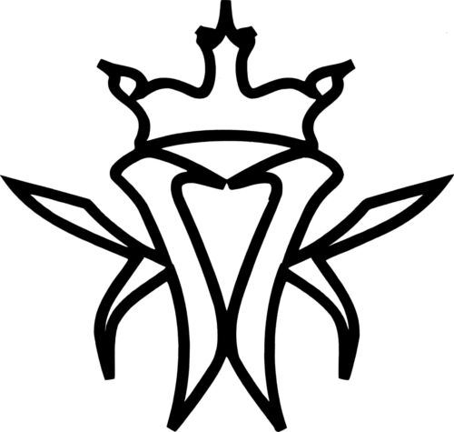 17220 Black Kottonmouth Kings Logo Hip Hop Rap Music Rub-on Vinyl Sticker Decal