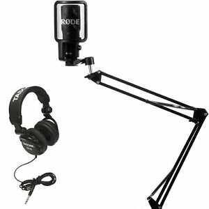 rode nt usb condensor microphone with knox mic boom arm stand and pop filter 646791390359 ebay. Black Bedroom Furniture Sets. Home Design Ideas