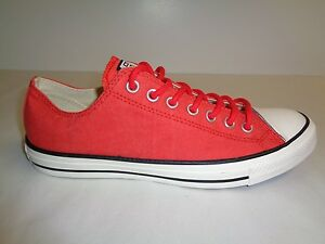 Converse Size 9.5 Mens 11.5 Womens CT OX FIRE BRICK Sneakers New Unisex Shoes