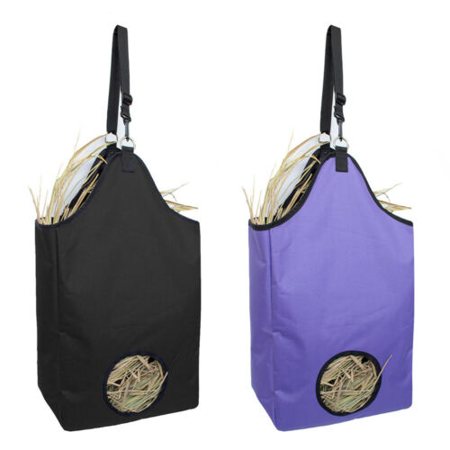 2pcs 2 Colors Hay Bale Bag Portable Straw Bag Carry Storage Camping Horse Feeder