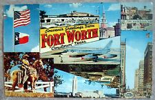 """Vintage Souvenir Greetings From Ft Worth """"Cowtown"""" - Fort Worth, Texas Postcard"""