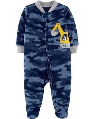 New Carter/'s Boys Sleep N Play 2 Pack Rompers Teddy Bears NB 3m 6m 9m Blue