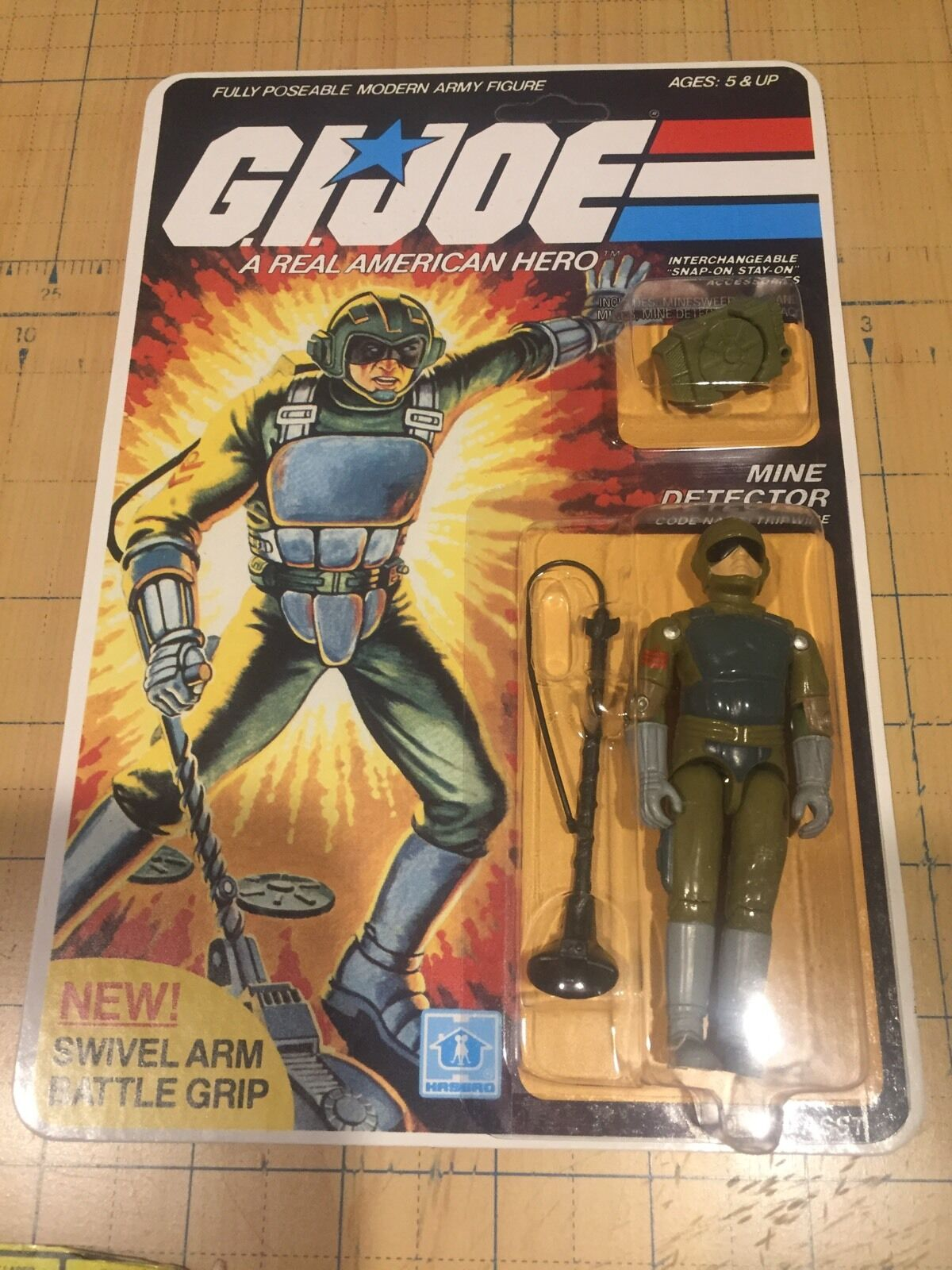 GI JOE 1983 Trip Wire MOC  , Unpunched , Repro Reseal, MINT