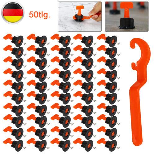 50 Stück Fliesen Nivelliersystem Verlegen Fliesen Leveler Mit Spezialschlüssel