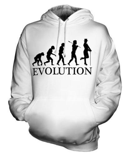 CABARET DANCER EVOLUTION OF MAN UNISEX HOODIE  Herren Damenschuhe LADIES FANCY DRESS