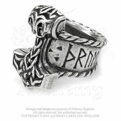 Norse :Size Q Celtic Viking Alchemy Gothic Viking Runeband pewter ring