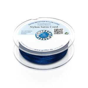 Nylon-Satin-Band-1mm-dunkelblau-5m-Spule-Makrameeband-Schmuckkordel-Nylonschnur