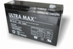 NP12-6 Ultra Max Lead Acid Rechargeable Battery 12Ah 6v