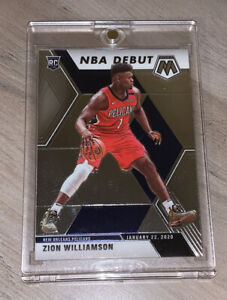 Zion Williamson HOT ROOKIE CARD PANINI MOSAIC NBA DEBUT 2019-20 RC #269 - Mint!