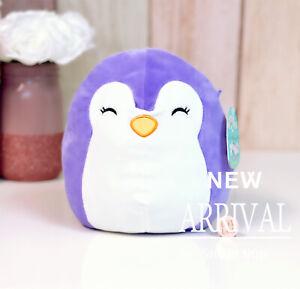 "*RARE* KellyToy Squishmallow 8"" Elle the Purple Penguin Original 2018 HTF NEW"