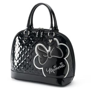 21f7c7398a34 Image is loading Loungefly-Disney-Minnie-Mouse-Black-White-Silhouette-Purse-