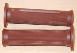 1970-039-s-vintage-Tommaselli-pair-grips-fit-7-8-034-bars-130mm-long-BROWN-01617-CFM