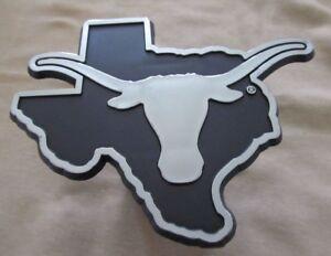 Texas Longhorns Silver Trailer Hitch Cover