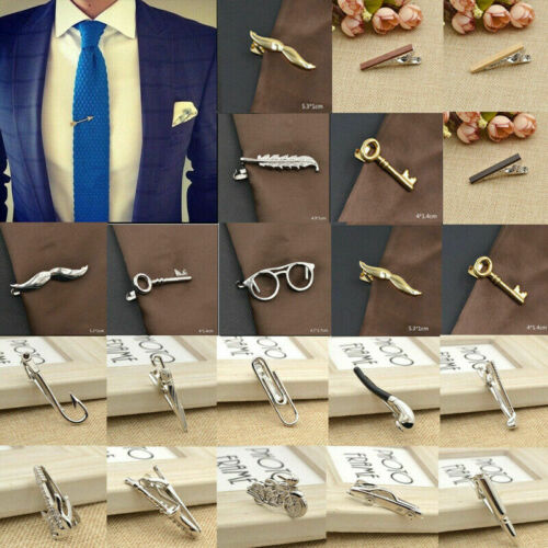 Mens Metal Tie Clip Bar Necktie Pin Clasp Clamp Wedding Party Father Day Gift US