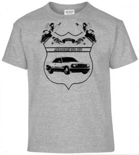 T-Shirt Allemand Style Classique Mercedes 560 Sec Oldtimer Pinup