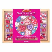 Melissa And Doug Sweet Hearts Wooden Bead Set Toys Arts And Crafts