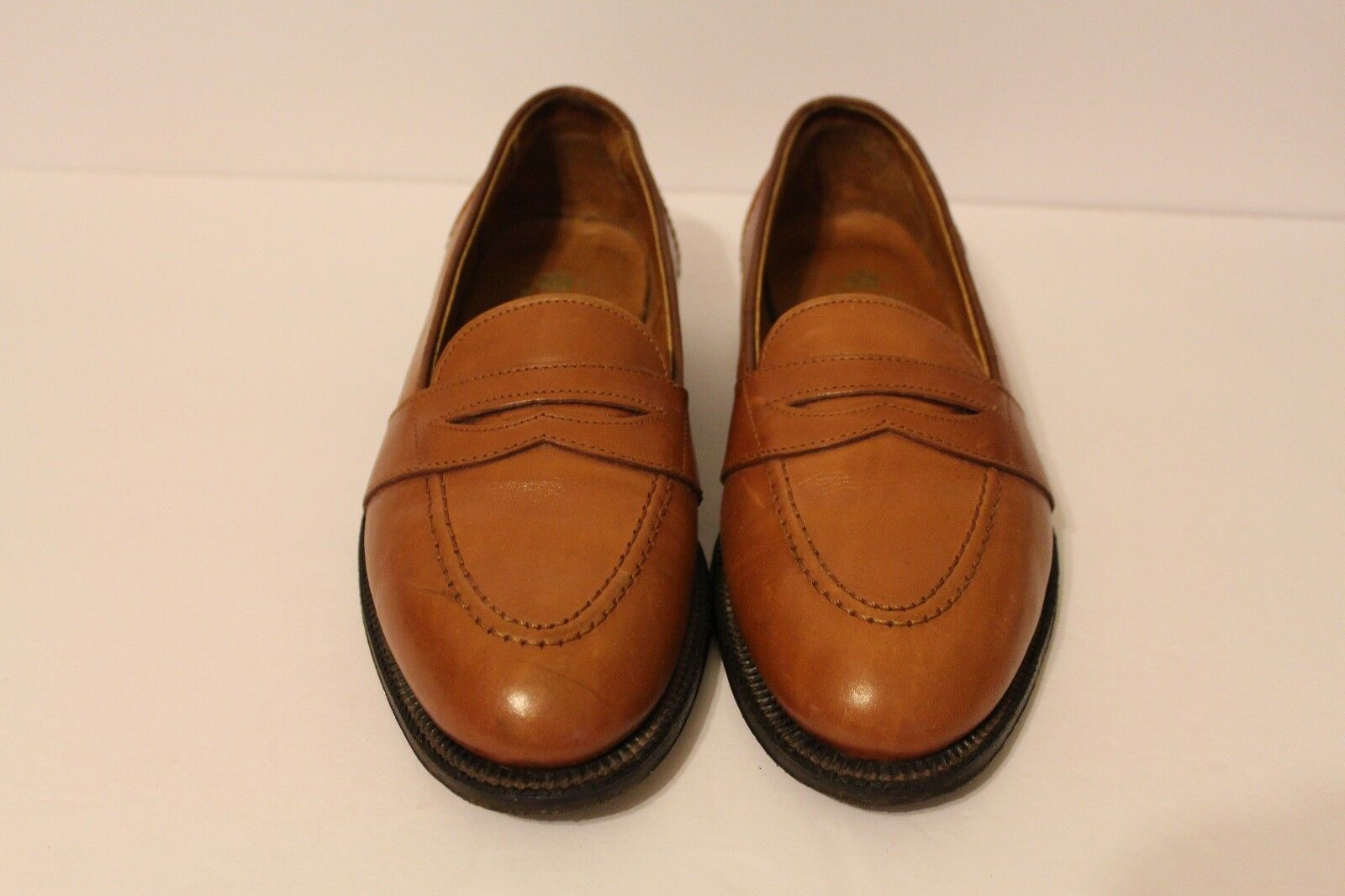 ALDEN OF NEW ENGLAND FULL STRAP-ON BURNISHED TAN MEN'S SIZE 7 C E USA