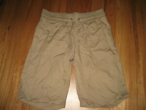 LADIES-CUTE-BROWN-COTTON-KNEE-LENGTH-CASUAL-SHORTS-BY-NOW-SIZE-10-CHEAP
