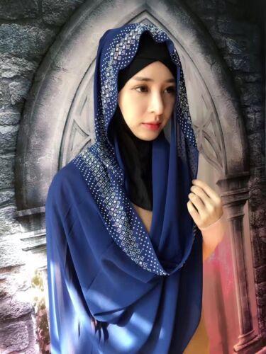 Nouveau femmes musulmanes Chaud Forage Hijab Islamique Écharpe Arabe Caps Châles foulard
