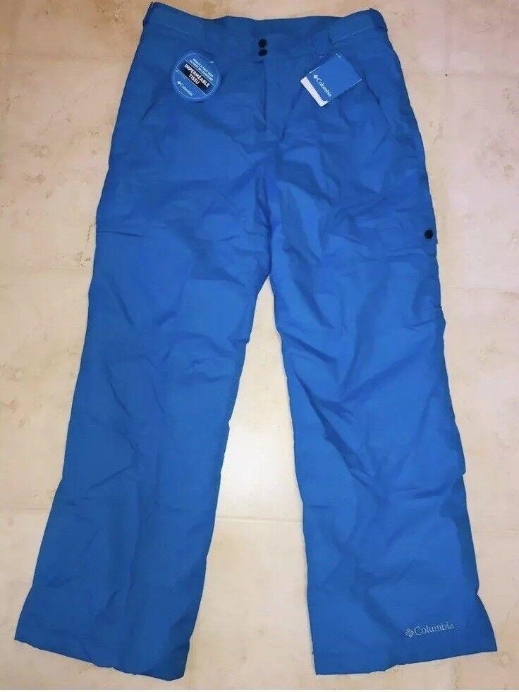 BRAND NEW MEN'S COLUMBIA WATERPROOF SNOW GUN Skiing PANTS - SIZE XL bluee  100