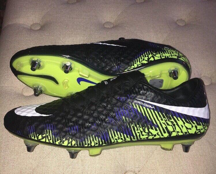 a650bba9 Mens NWT Hypervenom Nike SZ-11.5 - 768898-018 - Cleats Soccer Pro SG ...