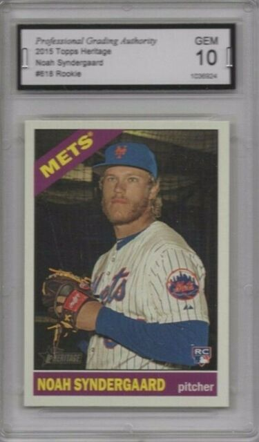 NOAH SYNDERGAARD 2015 TOPPS HERITAGE #618 (HIGH #) RC GEM 10