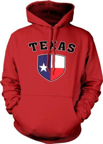 Texas Flag Shield Lone Star State Pride Tejas Texan Tejano Hoodie Pullover