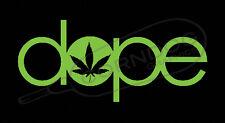 Dope LIME GREEN VINYL STICKER DECAL POT 4:20 HEAD MARIJUANA WEED CANNABIS NORML