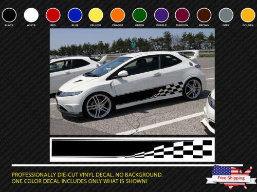 Checkered Flag Auto Graphic decal Vinyl car truck body racing stripe sticker