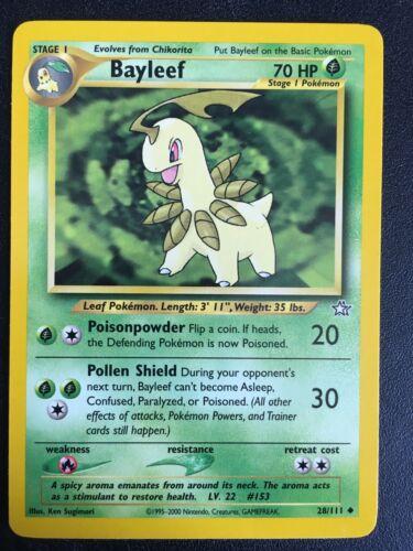 Bayleef 28//111 Neo Genesis Pokemon Card