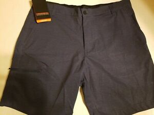 NWT-Hawke-amp-Co-Men-039-s-Size-36-Performance-Golf-Stretch-Navy-6-Pocket-Shorts