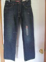 Boy's Size 14 Husky Arizona Jean Co. Original Straight Jeans, Dark Wash