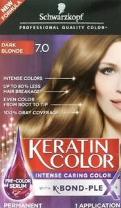 Schwarzkopf Keratin Color Dark Blonde 7.0 Permanent Hair Color