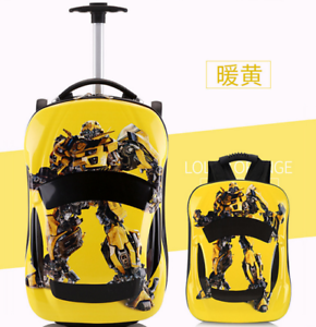 Transformer-Yellow-Bumble-Bee-3D-Travel-Luggage-Suitcase-19-034-Backpack