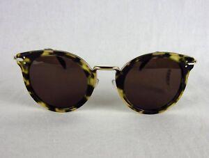 bd0f39578a NWT Celine Lea 41373 S J1L-A6 Green Havana Tortoise Round Sunglasses ...