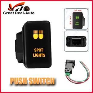 Dual-LED-Orange-Push-Switch-Spot-Lights-Fit-Toyota-Landcruiser-Prado-Hilux-100s
