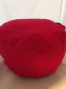 Small Pouf Pillow Bean Bag Cover Red Pouff Photography