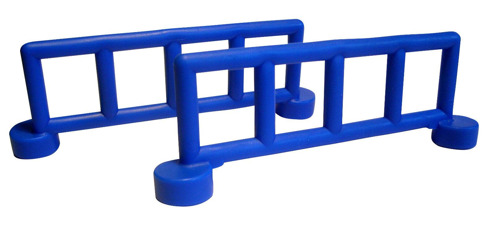 Lego 4 x Zaun Absperrung 4083 blau 1x4x2