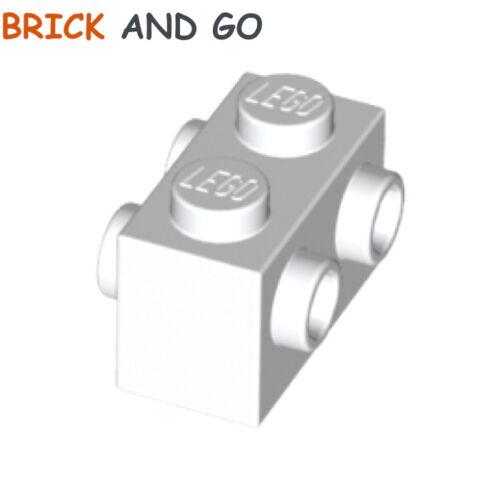 Lego x 2 Ziegel 4 Knöpfe 1x2 neu NEW Weiß 52107-4667575 Lego 4 Zapfen